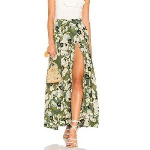 FREE PEOPLE Floral Tropical Maxi Skirt with Slit